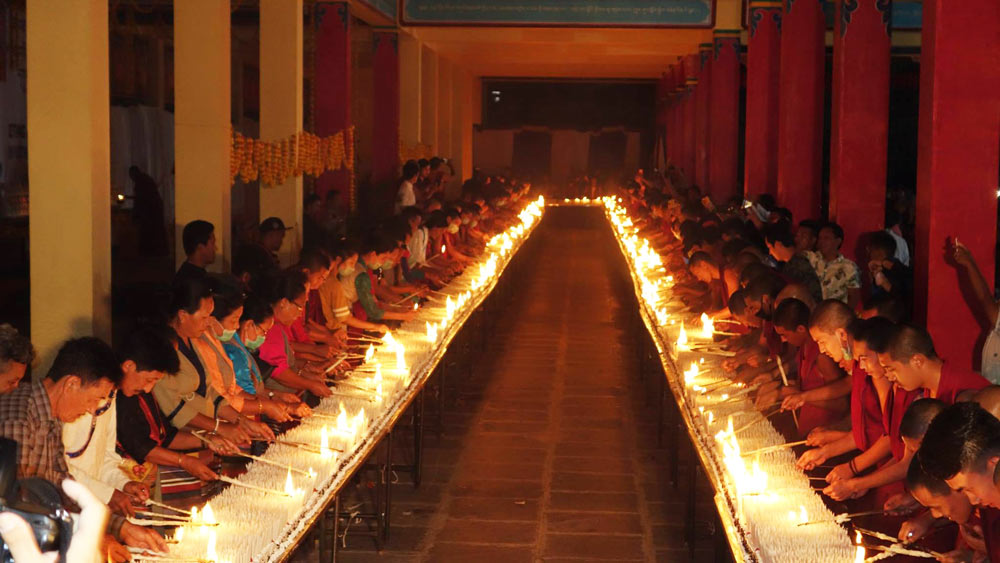 "SFT India and Tashi Lhunpo Monastery, the exile seat of the Panchen Lama, collaborated to set a world record for ""The Most Number of Candles Lit on a Birthday Cake."""