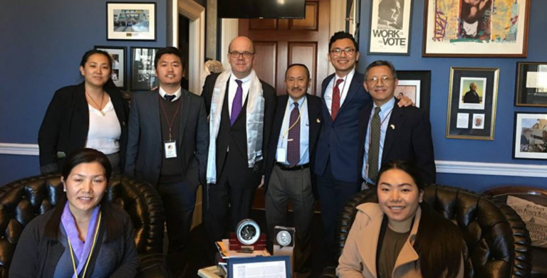 Meeting with Congressman Jim McGovern, during the 2018 US Tibet Lobby Day coordinated by ICT with support from Tibetan communities and SFT.