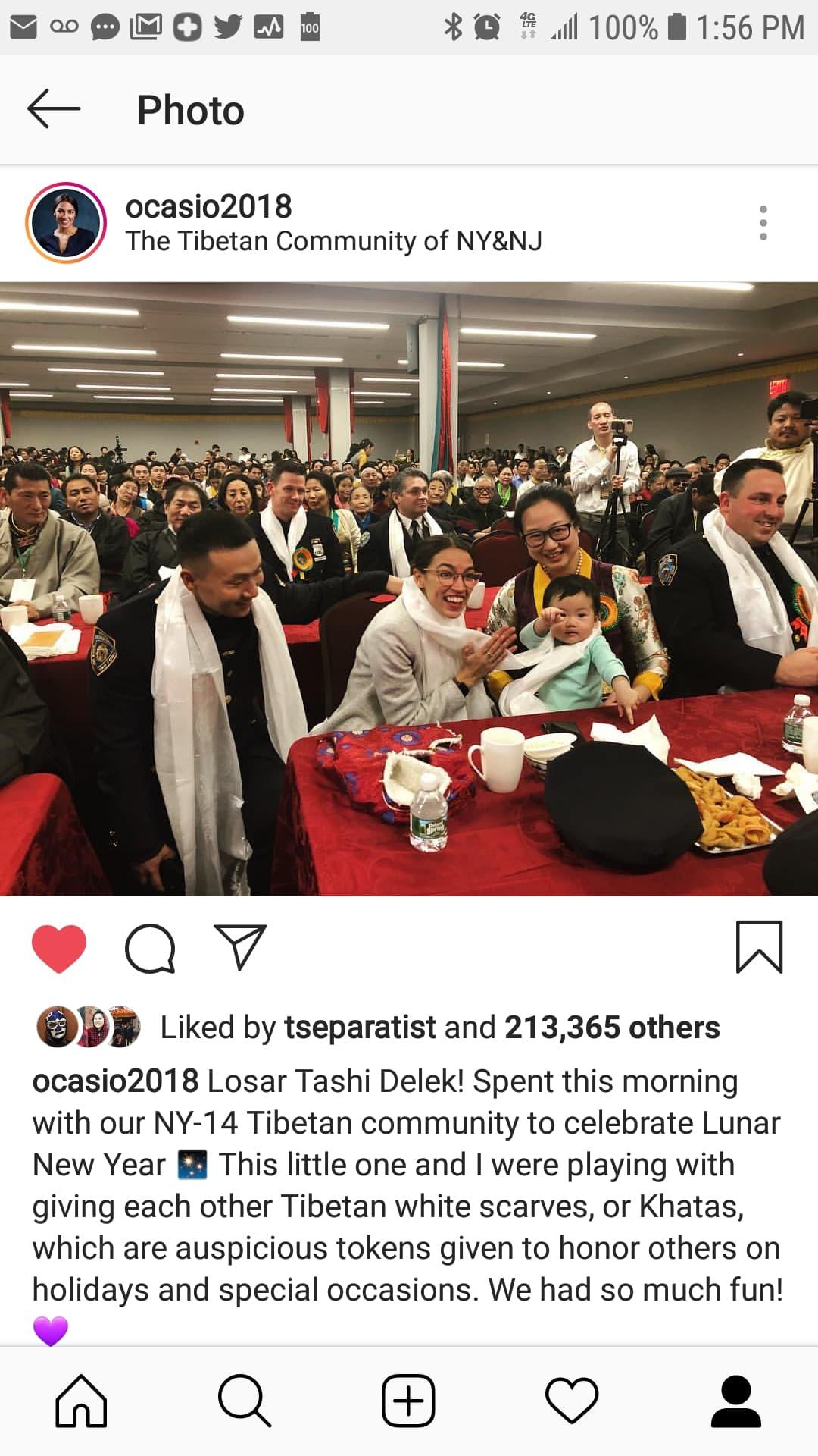 AOC at the Tibetan New Year program.