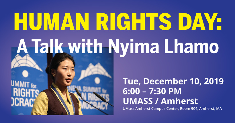 Human Rights Day: A talk with Nyima Lhamo